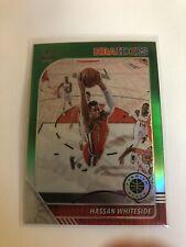 2020 Panini NBA Hoops Hassan Whiteside Green Prizm #196 Trailblazers