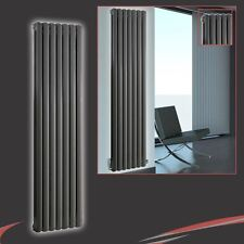 "437mm(w) x 1800mm(h) ""Elias"" Anthracite Multi-Column Vertical Radiator 6191BTUs"