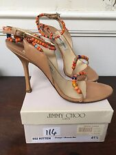 JIMMY CHOO Kitten Orange Miranda shoe size 41 UK8
