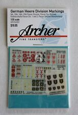 Archer 1/35 German Heer Panzer Division Markings WWII No.4 [Decal] AR35083