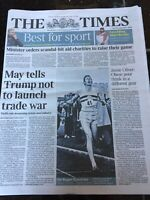 Roger Bannister Obituary Front Page Athletics Newspapers The Times 05/03/2018