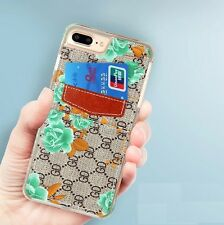 Fashion Flower Leather Wallet Card Back Case Cover For iPhone6/6s/7/Plus