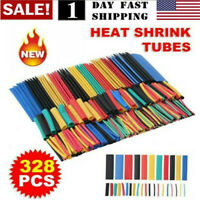 US! 530 Pcs 2:1 Heat Shrink Tubing Tube Sleeving Wrap Cable Wire 5 Color 8 Size
