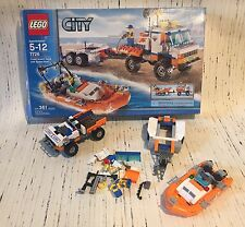 Lego City Coast Guard Truck With Speed Boat 7726~361 Pieces Retired Complete
