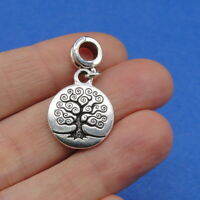 Silver Family Tree of Life Dangle Bead Charm - fits European Bracelets NEW