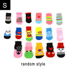 4PCS Assorted Pattern Pet Dog Puppy Cat Non-Slip Shoes Slippers Socks Random Top