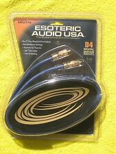 Esoteric Audio D4 1M 3.3ft Digital High Resolution Solid Core Interconnects, New