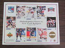 1991-92 Upper Deck Sheet Philadelphia Flyers vs New York Rangers 2-23-92 Messier