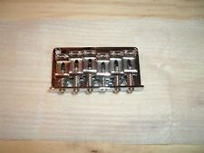 Chrome Strat Style Fixed Bridge 10.5 mm spacing with Steel Saddles US SHIP!!!
