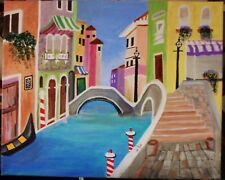 "original painting direct from the artist:  ""Borano, Italy"" 16x20 inches. Canvas"
