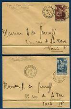 France - 2 enveloppes avec timbres et cachets infanterie en 1939   réf O 52