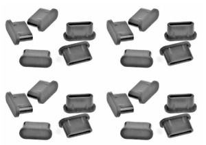 20pcs USB Type-C Anti-Dust Plug Stopper Black Rubber for OnePlus Nord CE 5G