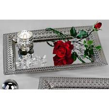 Spiegeltablett Romantik Metall Silber 22x32 Cm Formano