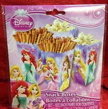 Disney Princess 4PC SNACK BOXES BIRTHDAY PARTY DECOR SNACK GIFT BOXES GIRLS