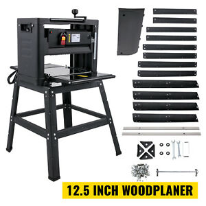 """VEVOR 12.5"""" Planer 1800W Thickness Wood Planer 4 Blades W/ Stand for Woodworking"""