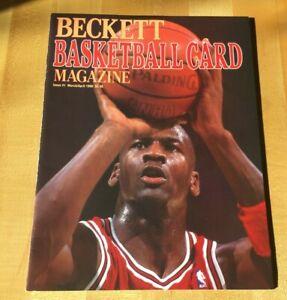 MICHAEL JORDAN---FIRST ISSUE BASKETBALL BECKETT MAGAZINE  #1 MARCH/APRIL 1990