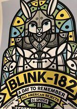 Pendleton Blink-182 poster Abbotsford Bc Canada September 18 2016 gig print