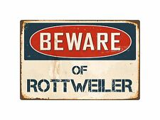 "Beware Of Rottweiler 8"" x 12"" Vintage Aluminum Retro Metal Sign VS362"
