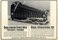 Photo-Apparate für jeden Geldbeutel Ratenzahlung Preisausschreiben von 1912