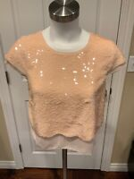 "BCBG Max Azria ""Joanna"" Pink Sequin Crop Top, Size XXS"