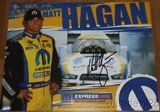 2014 Matt Hagan signed Mopar Express Lane Dodge Charger Funny Car Nhra postcard