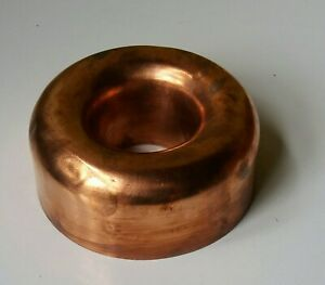 Vintage copper jelly mould tin lined 5.5 inches diameter