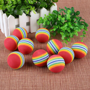 10/20/30X Golf Swing Training Indoor Easy Practice Balls Rainbow Sponge Foam
