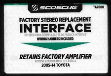 Scosche Factory Stereo Replacement Interface TA7000 2005-14-Toyota New in BOX