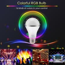 E27 85V-265V 5/9 W 16Colors RGB Dimmable LED Stage Light Bulb+IR Remote Control