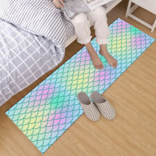 Abstract Mermaid Scales Non-slip Crawling Mat Room Floor Area Rugs Decor Carpet