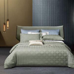 bedding set 4pcs Classic jacquard 100S cotton quilt cover bed sheet pillowcases