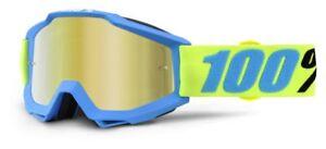 100% Accuri Goggles - Mirror Lens - All Colours - Motocross MX Mountain Bike MTB