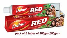Dabur Red Tooth Paste Ayurveda Toothpaste 6 x 100 gm each pack