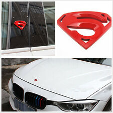8.2x5.3cm Metal Red Superman Logo Emblem Car Body Decoration Sticker For Holden