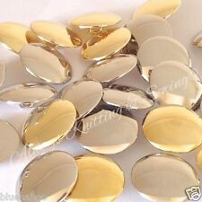 NEW STYLE per 5 Blazer Buttons gold or silver slightly curved 15mm 18mm & 21mm *