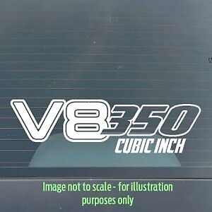 150mm 350ci V8 Holden / Ford / Chev / Chrysler car / toolbox / tackle box decal