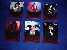 6  Michael Jackson Panini Cards & Wrap  New   ( H )