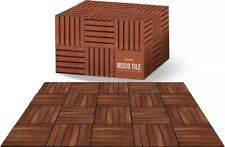 Wood Interlocking Floor Tiles Solid Teak Wood Flooring Tile with Uv Protection x