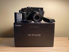Fujifilm X-Pro3 Camera w/ 23mm f2 Lens & extras