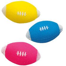 Hundespielzeug Rugby-Bälle 3 Stück je 12 cm mit Quietscher 3 Farben
