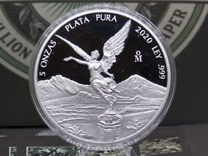 "2020 Mexico 5oz Proof Silver Libertad ""LOW MINTAGE"" #RP ECC&C, Inc."