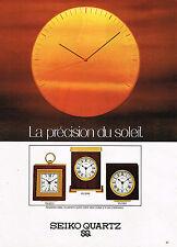 PUBLICITE ADVERTISING 114  1979  SEIKO QUARTZ PRECISION SOLEIL pendulette réveil
