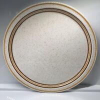 "Brendan Erin Stone Ireland 12 3/4"" Round Platter Brown Stripe Serving Plate"