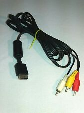 Official Sony Playstation AV RCA composite cable OEM PS3 PS2 PSX PSOne 1 2 3