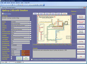 Railway Memorabilia Collector Image Database Software CDROM for Windows