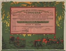 SPAIN COLONIZATION OF GUINEA stock certificate 1930