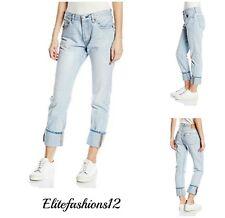 Levi's Womans 501 Boyfriend Jeans Light Sky Delta Size 27 x 32 Style # 125010238