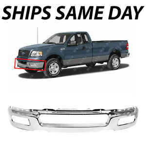 NEW Chrome Steel Rear Bumper Assembly for 2004 2005 Ford F150 F-150 Styleside