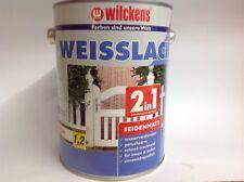 2,5 L Wilckens Weisslack Seidenmatt 2in1 Grundierung und Lack