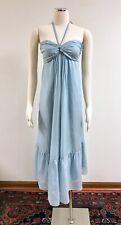 Mason Michelle Mason Blue Halter or Strapless Empire Waist Midi Dress Size 8